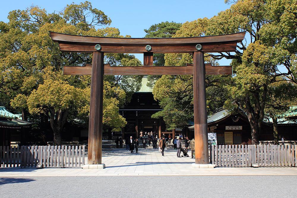 cổng đền meiji jingu