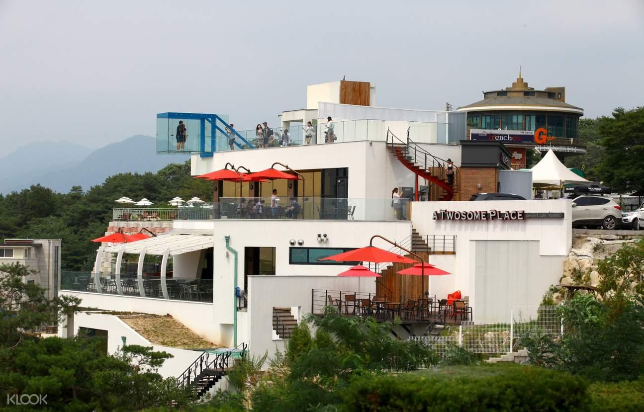 cà phê đài quan sát tại gubongsan mountain