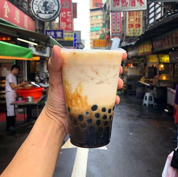 sữa tươi trân châu đường đen tại chen san ding