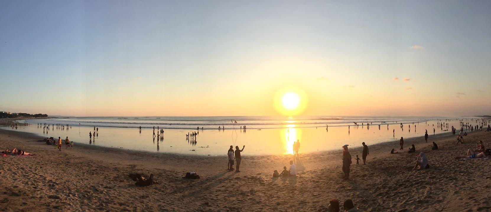 hoàng hôn tại kuta beach