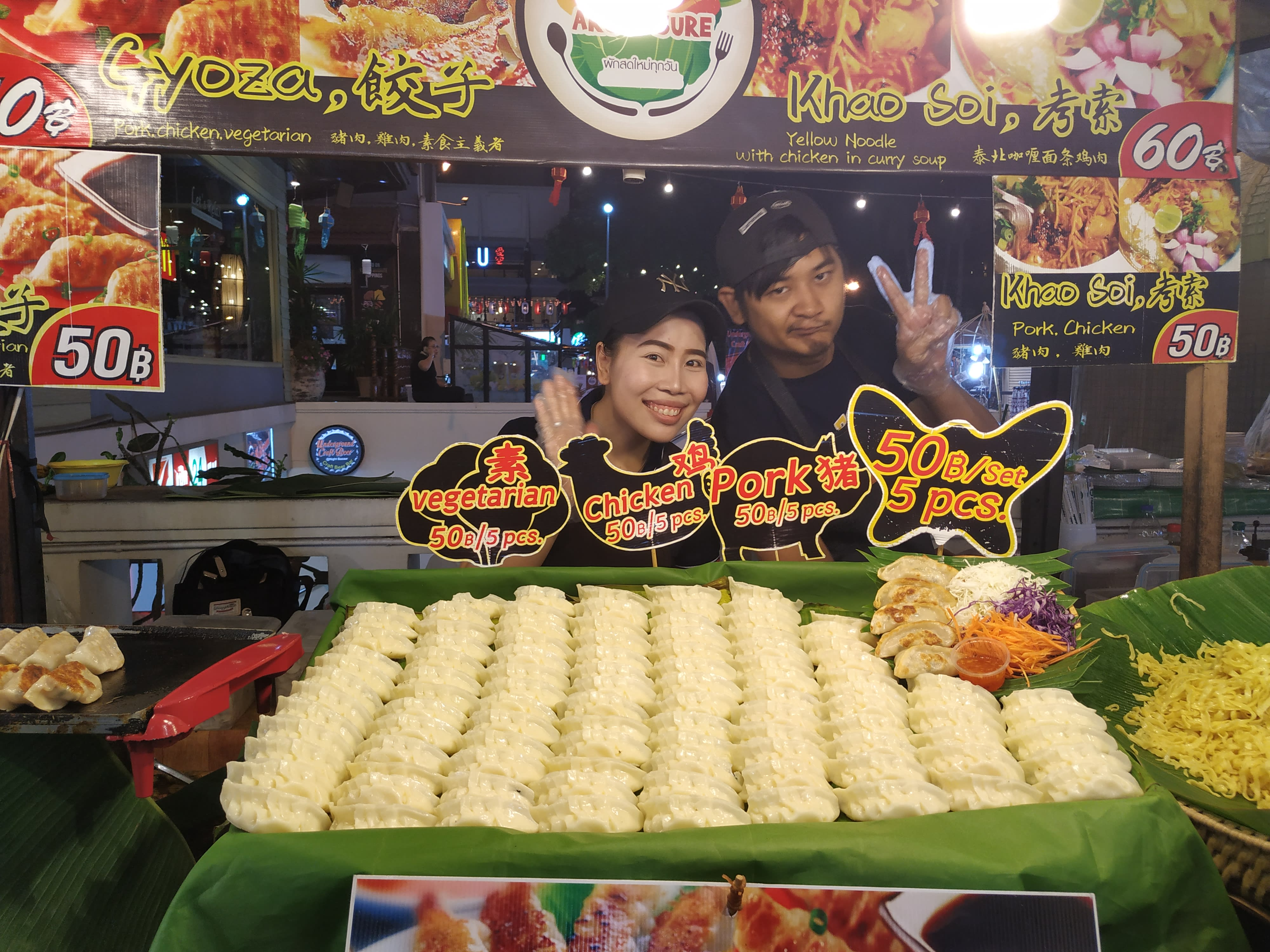 đồ ăn ở chợ đêm night bazaar