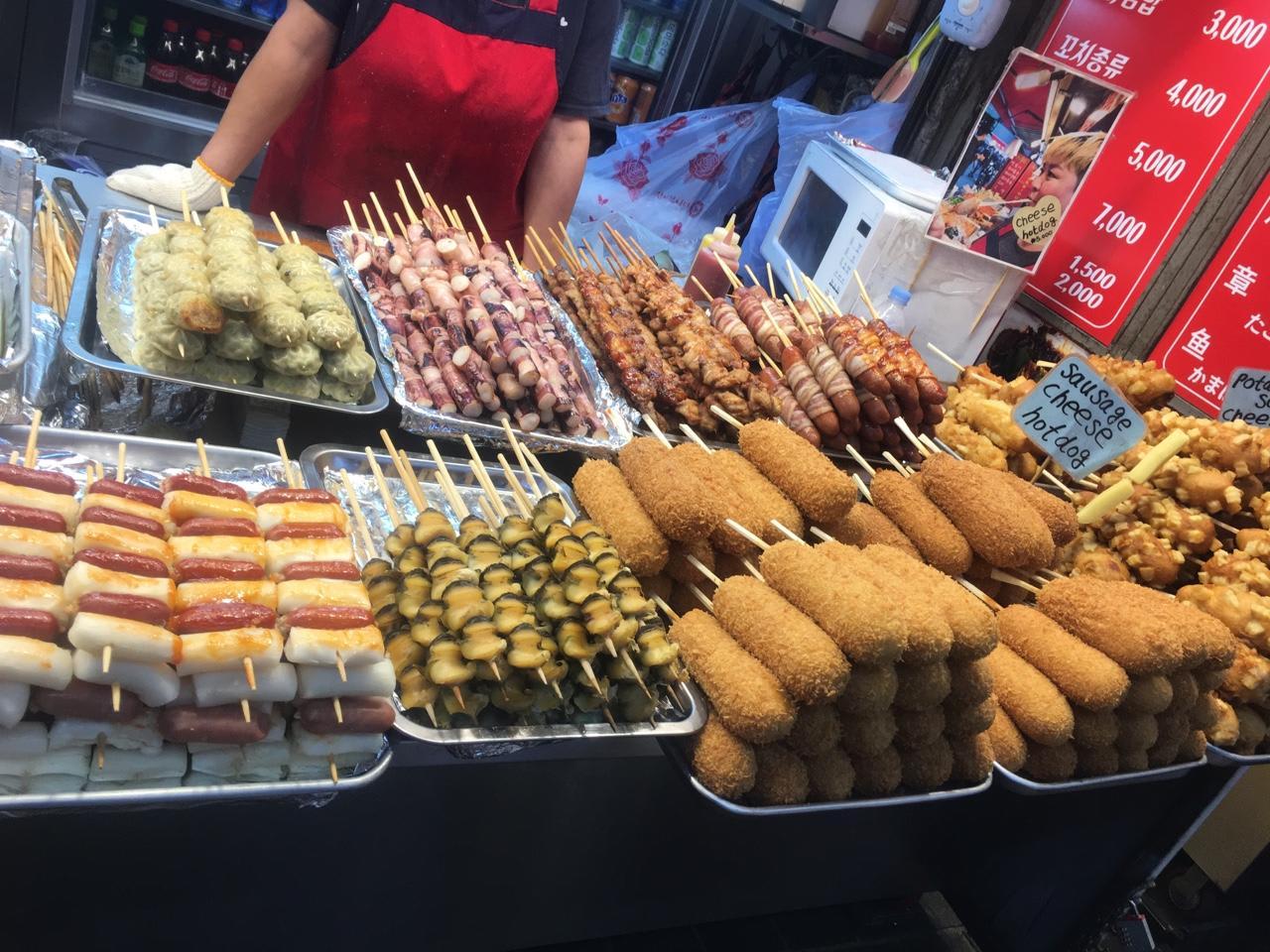 ẩm thực đường phố tại myeongdong