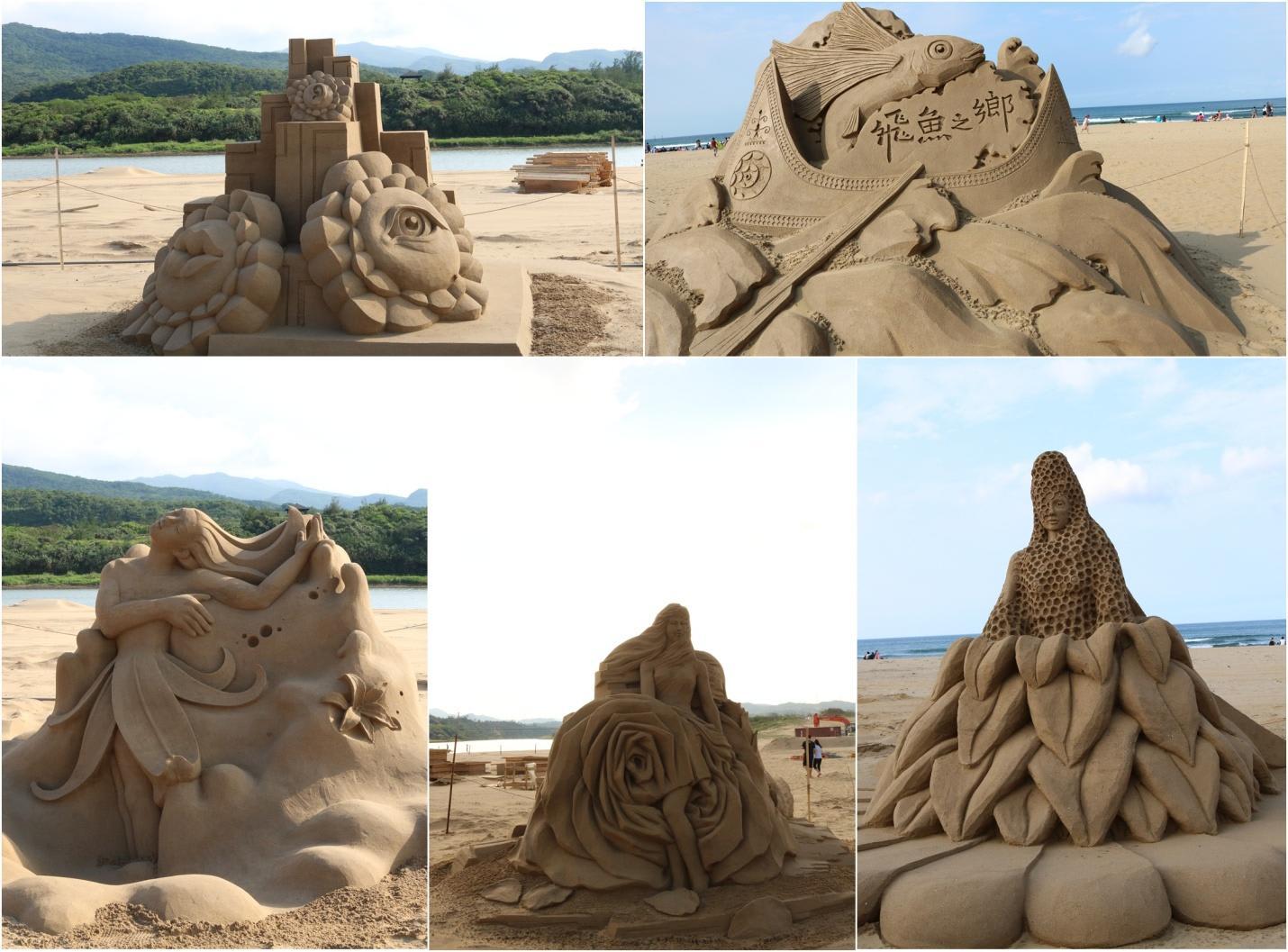 tượng điêu khắc cát
