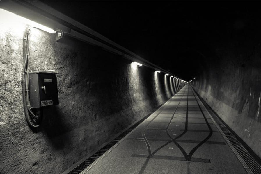 bên trong đường hầm jiucao ling