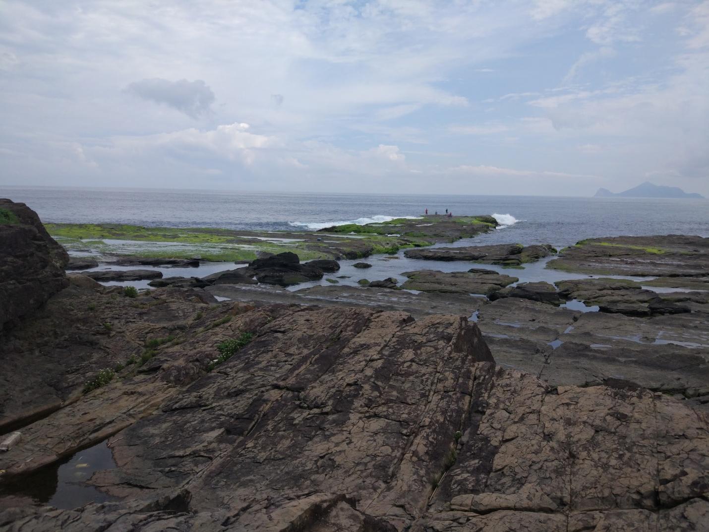 bãi đá và bờ biển gần sandiao jiao