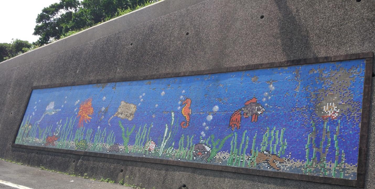 bức tranh tường tại làng chài