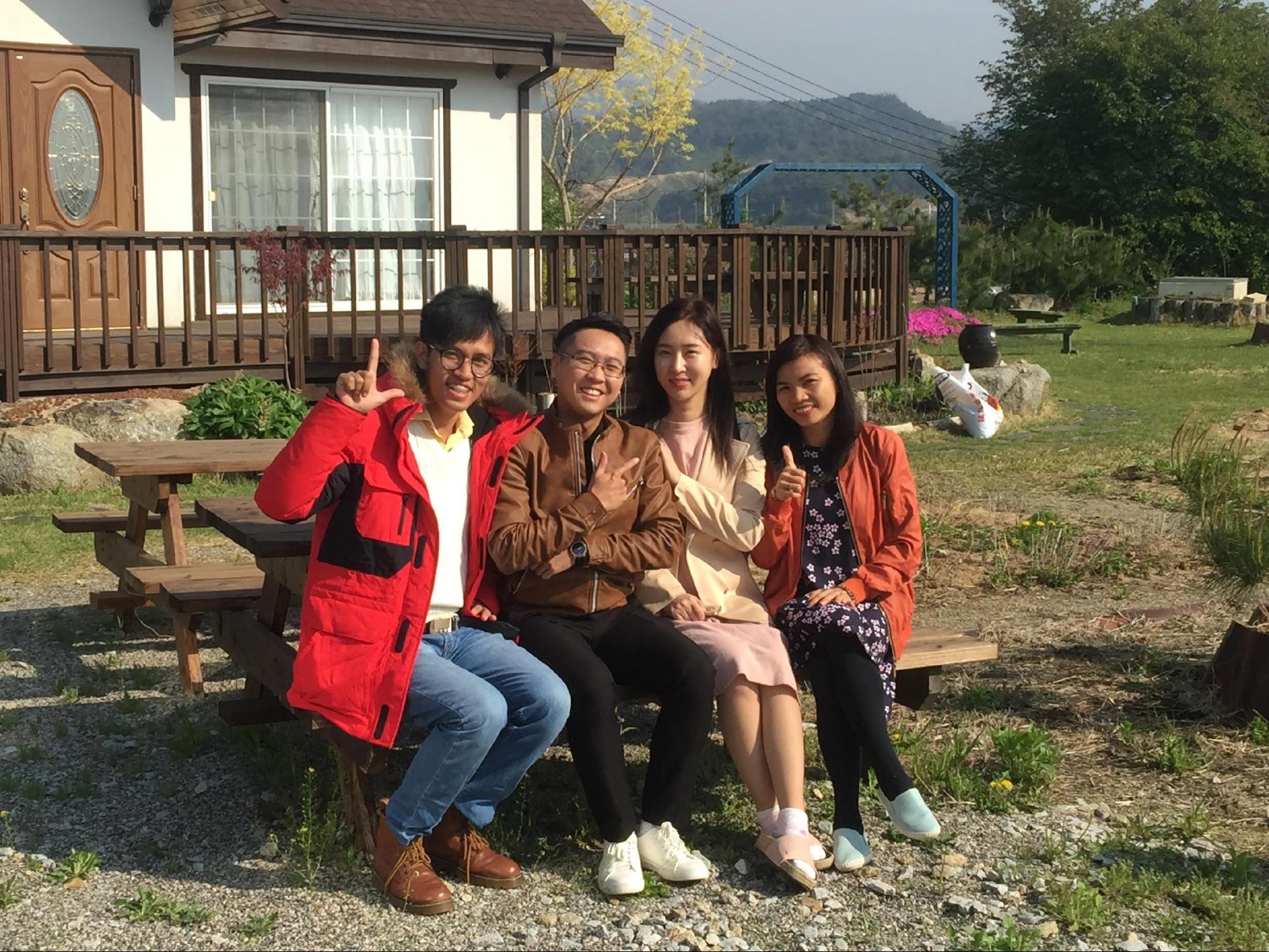 gia đình ở vùng quê xứ hàn