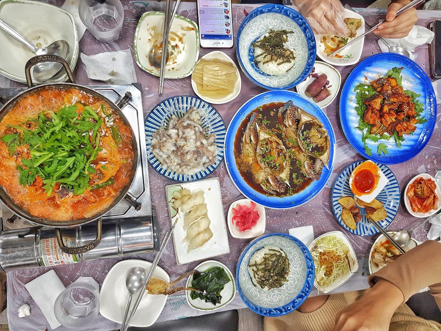 các món ăn trong chợ cá jagalchi