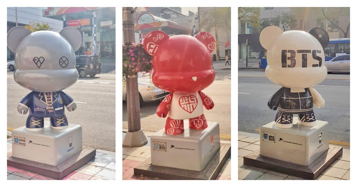 biểu tượng các nhóm nhạc trên con đường kpop