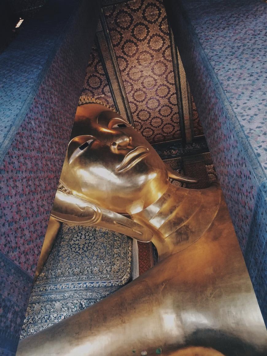 tượng phật nằm tại wat pho