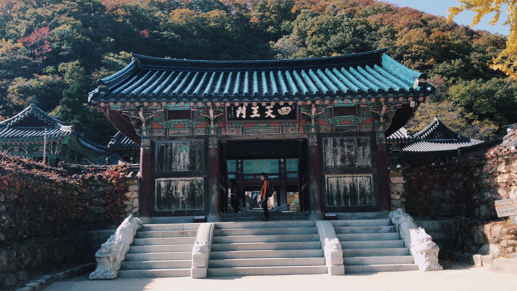 cổng đền tại vườn quốc gia seoraksan