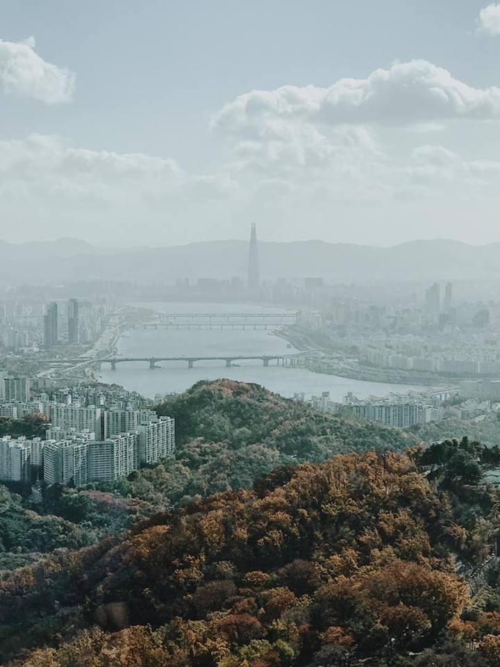 cảnh ngắm từ tháp N seoul