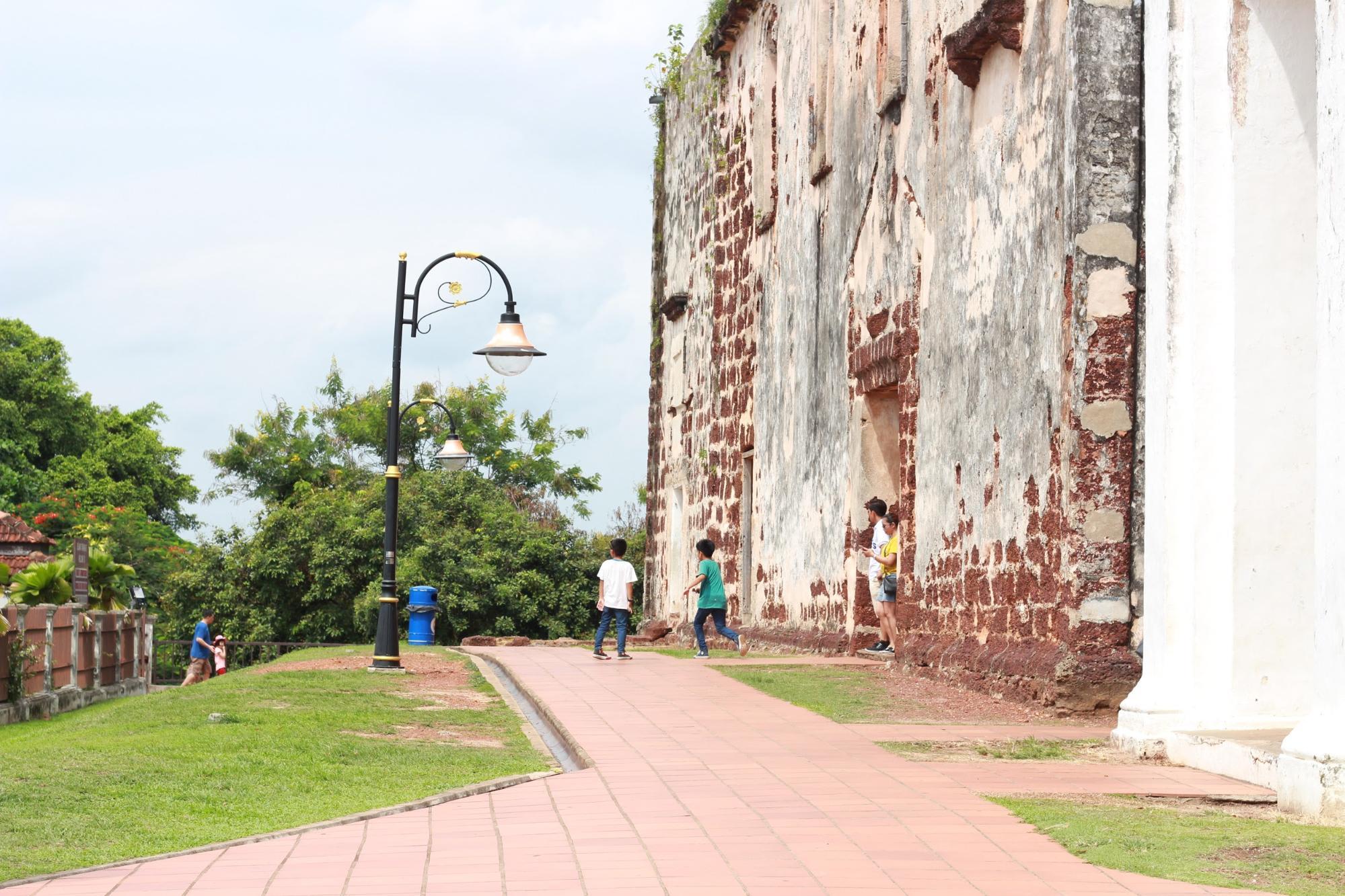 bức tường gạch cổ tại malacca