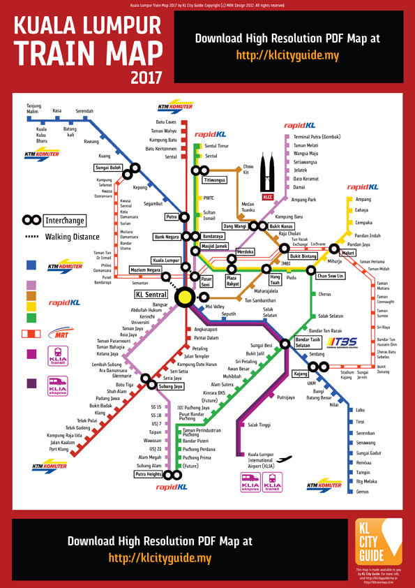 bản đồ các phương tiện công cộng ở kuala lumpur