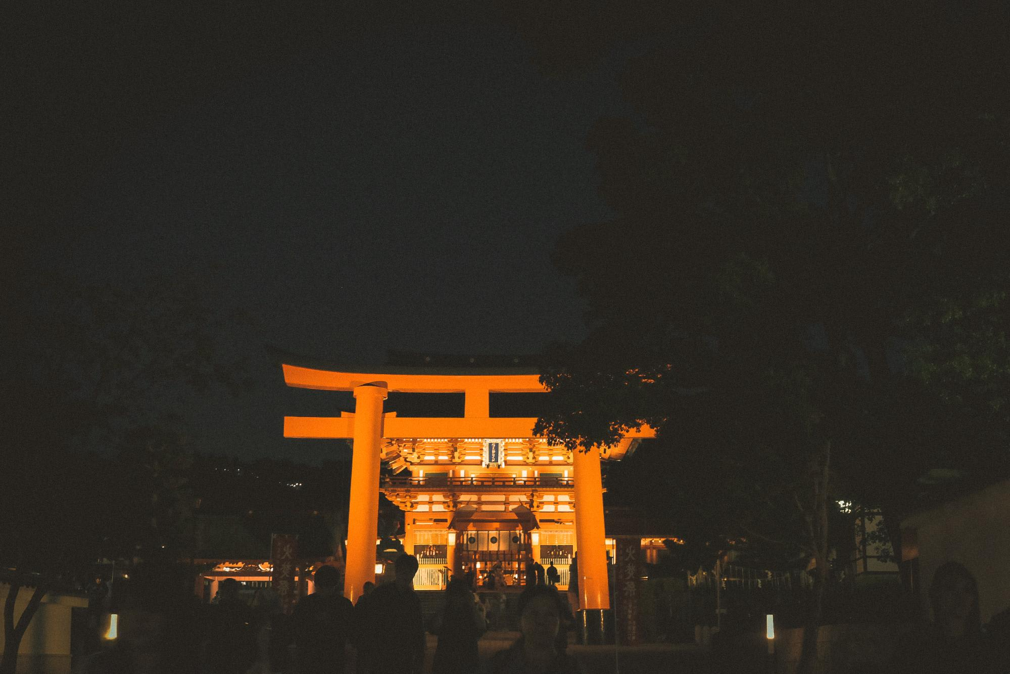cổng đền fushimi inari
