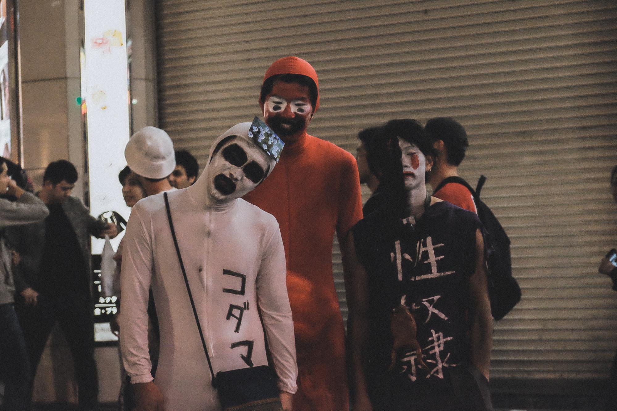 lễ hội hóa trang halloween tại shibuya