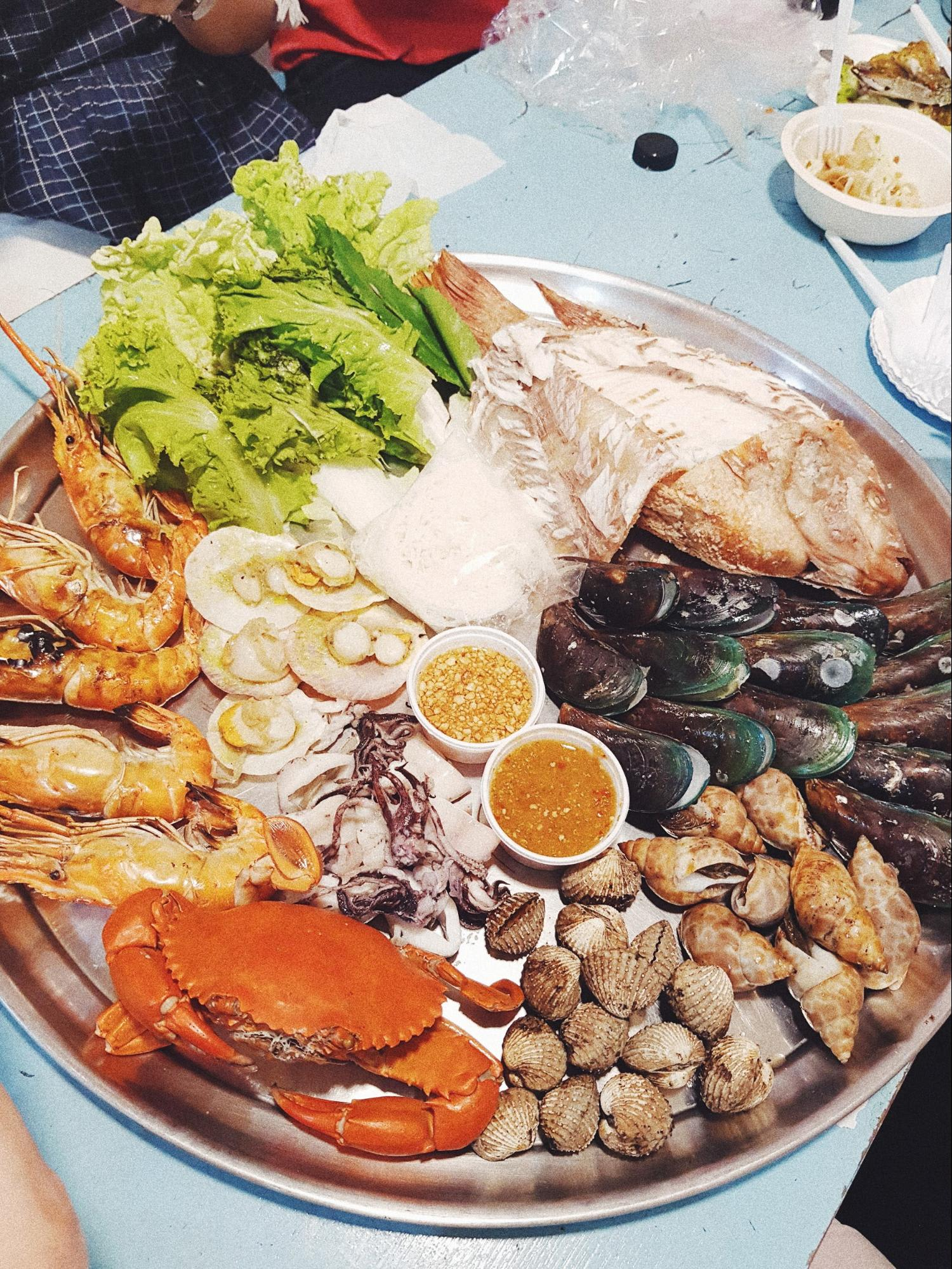 hải sản tại chợ chatuchak