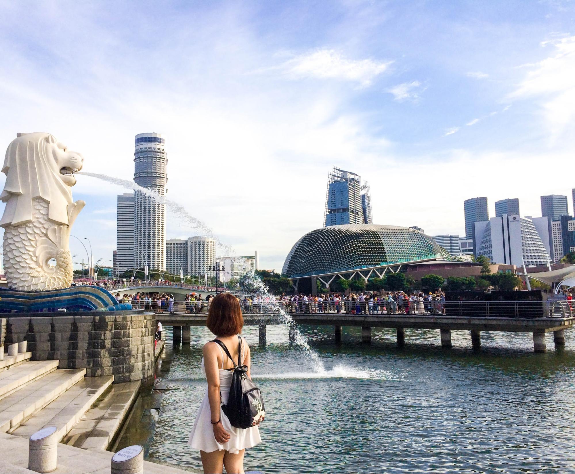 tượng merlion singapore