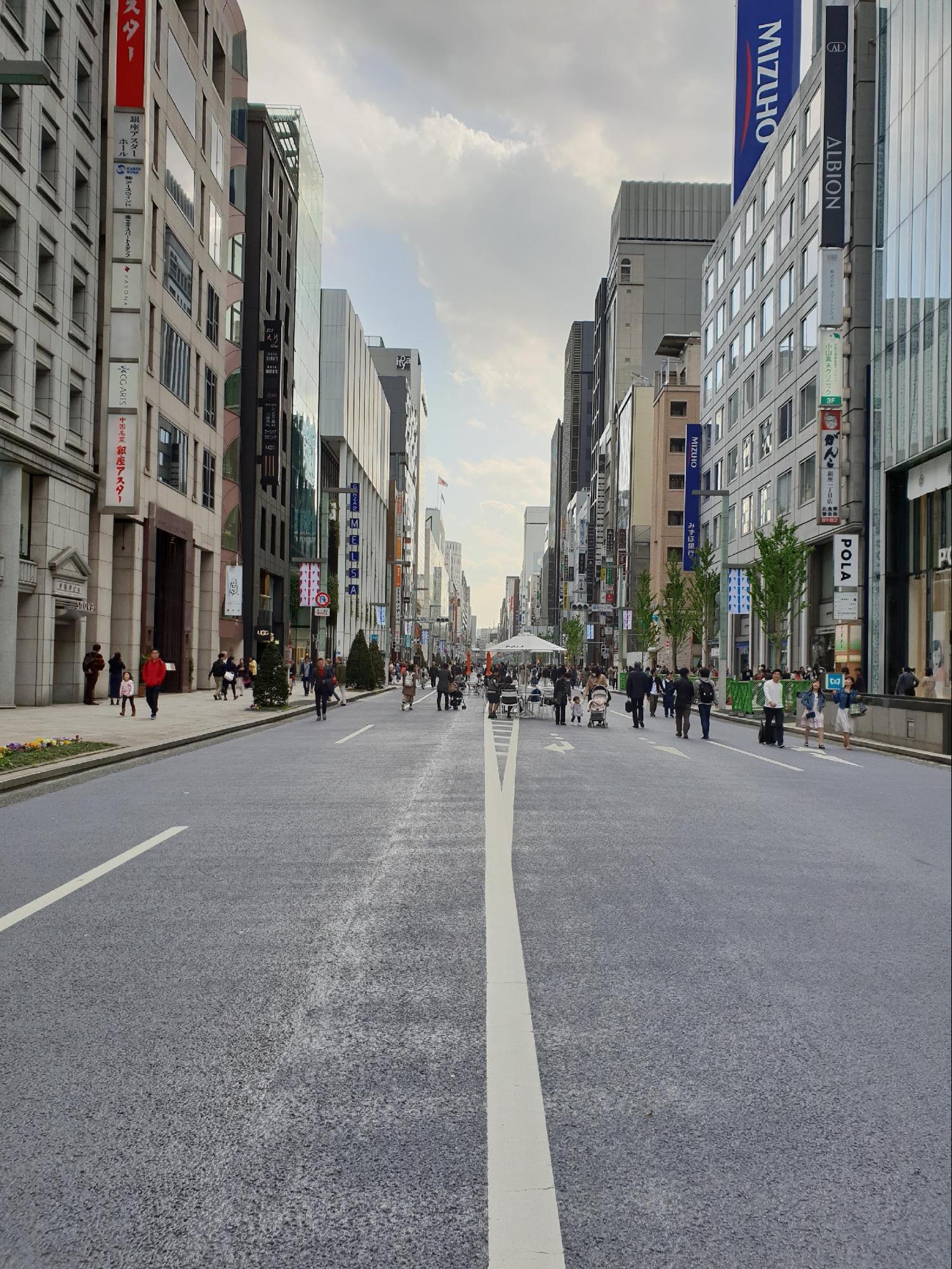 đường phố ở ginza