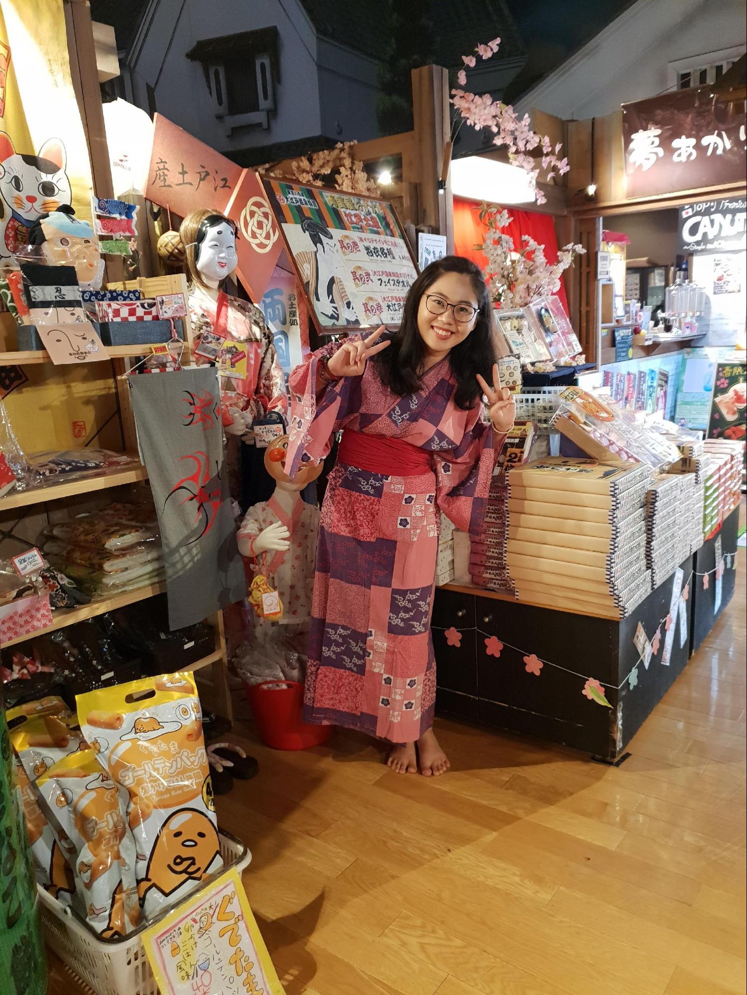 chụp hình cùng yukata