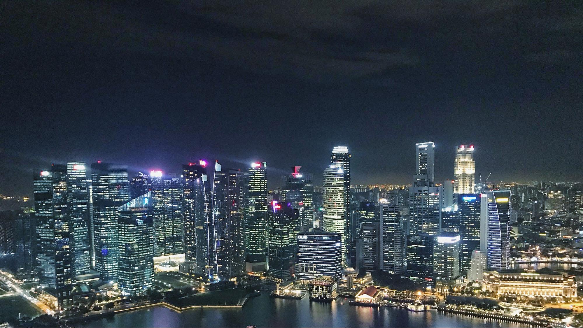 toàn cảnh singapore về đêm