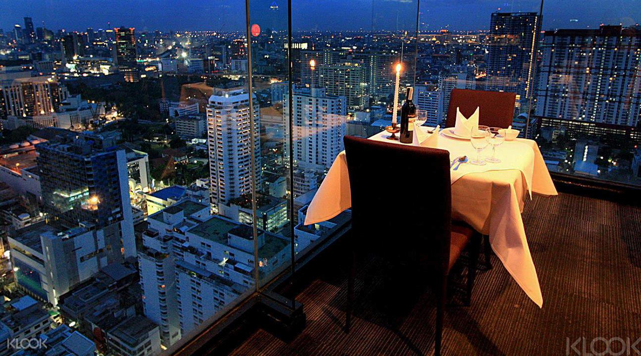 nhà hàng tại baiyoke sky hotel bangkok