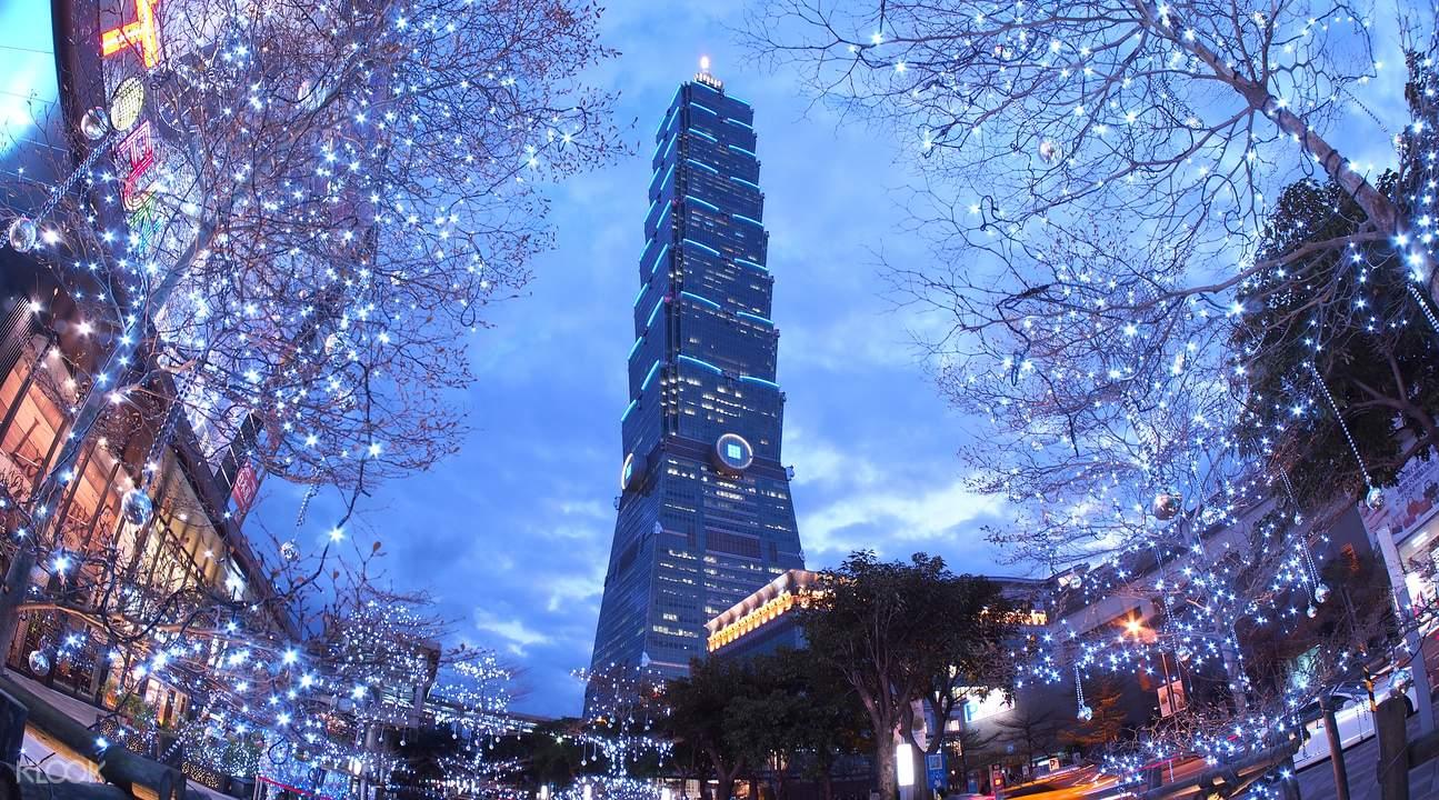 tháp taipei 101 về đêm