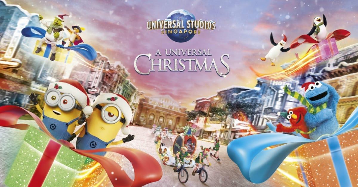 universal studios singapore giáng sinh