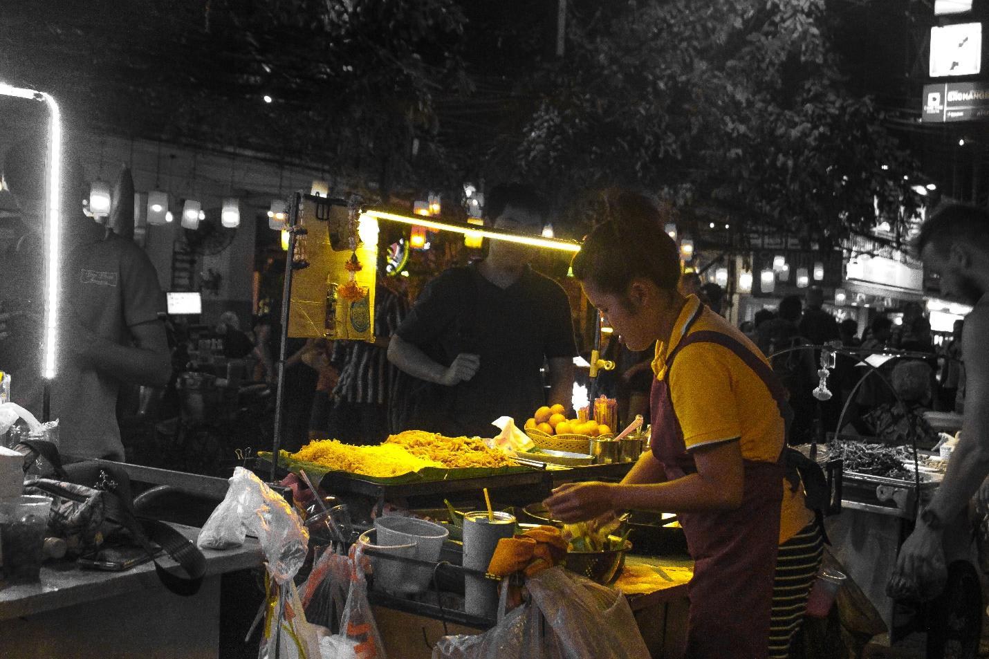 quầy pad thái tại khao san