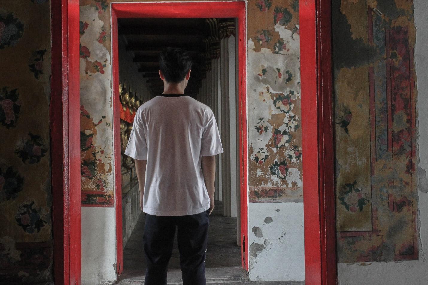 họa tiết trên tường tại wat arun