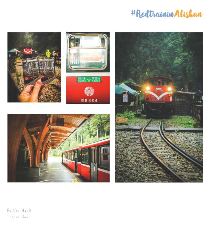 tàu lửa đỏ ở alishan