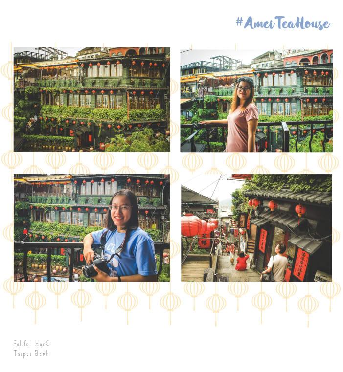 ngắm cảnh từ amei tea house