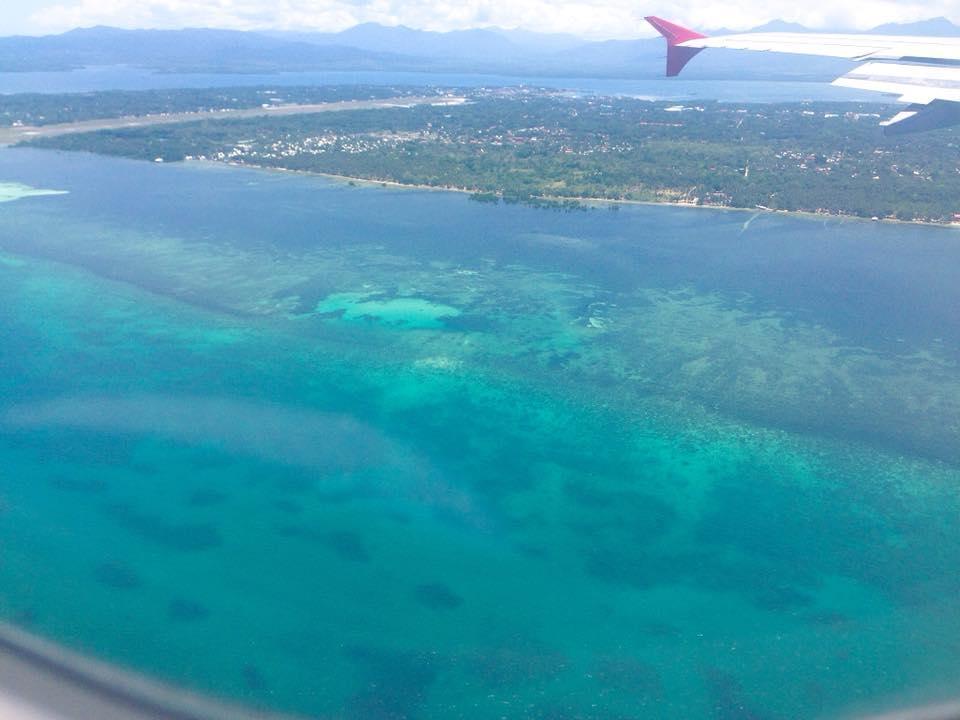 puerto princesa nhìn từ trên máy bay
