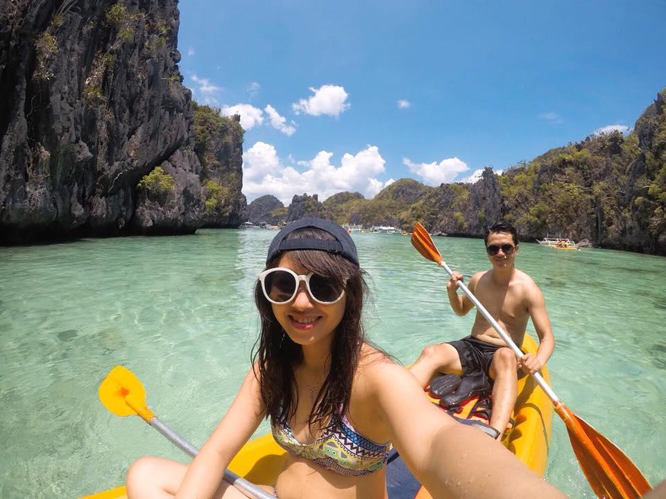 chèo thuyền kayak ở el nido