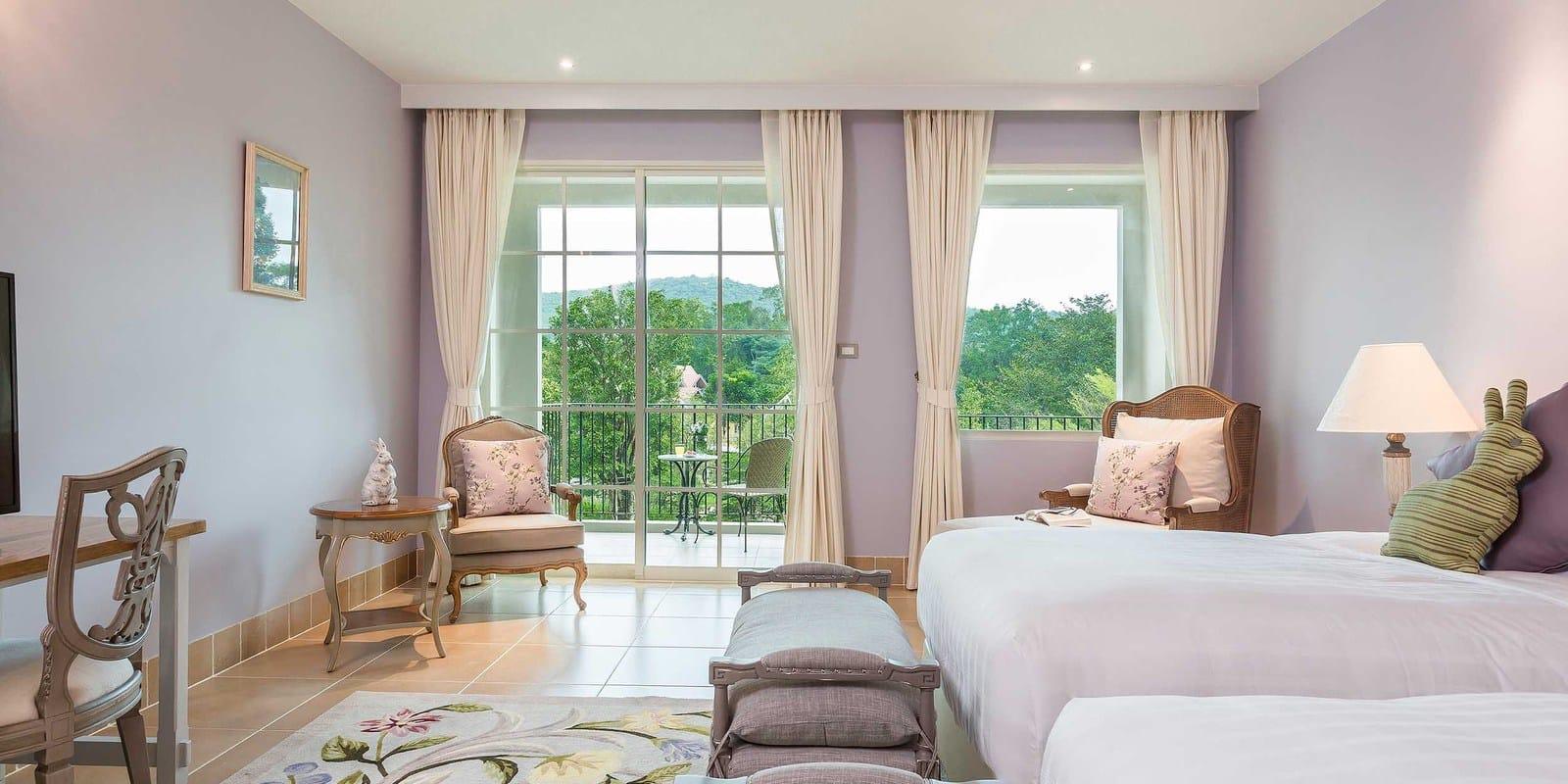 phòng ngủ khách sạn u khao yai