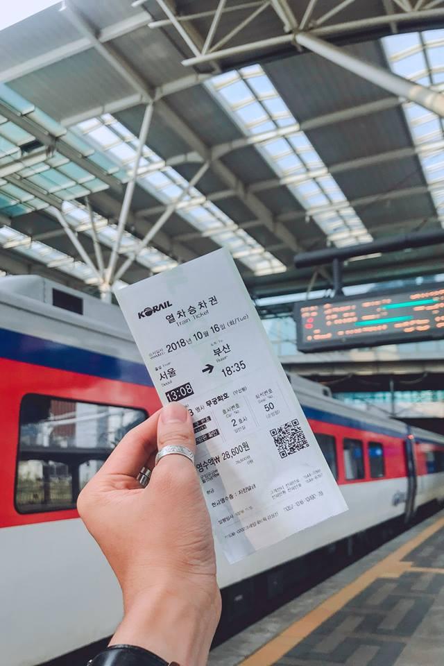 vé tàu di chuyển từ seoul đến busan