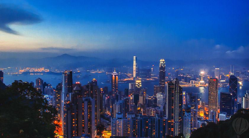 hong kong peak lights