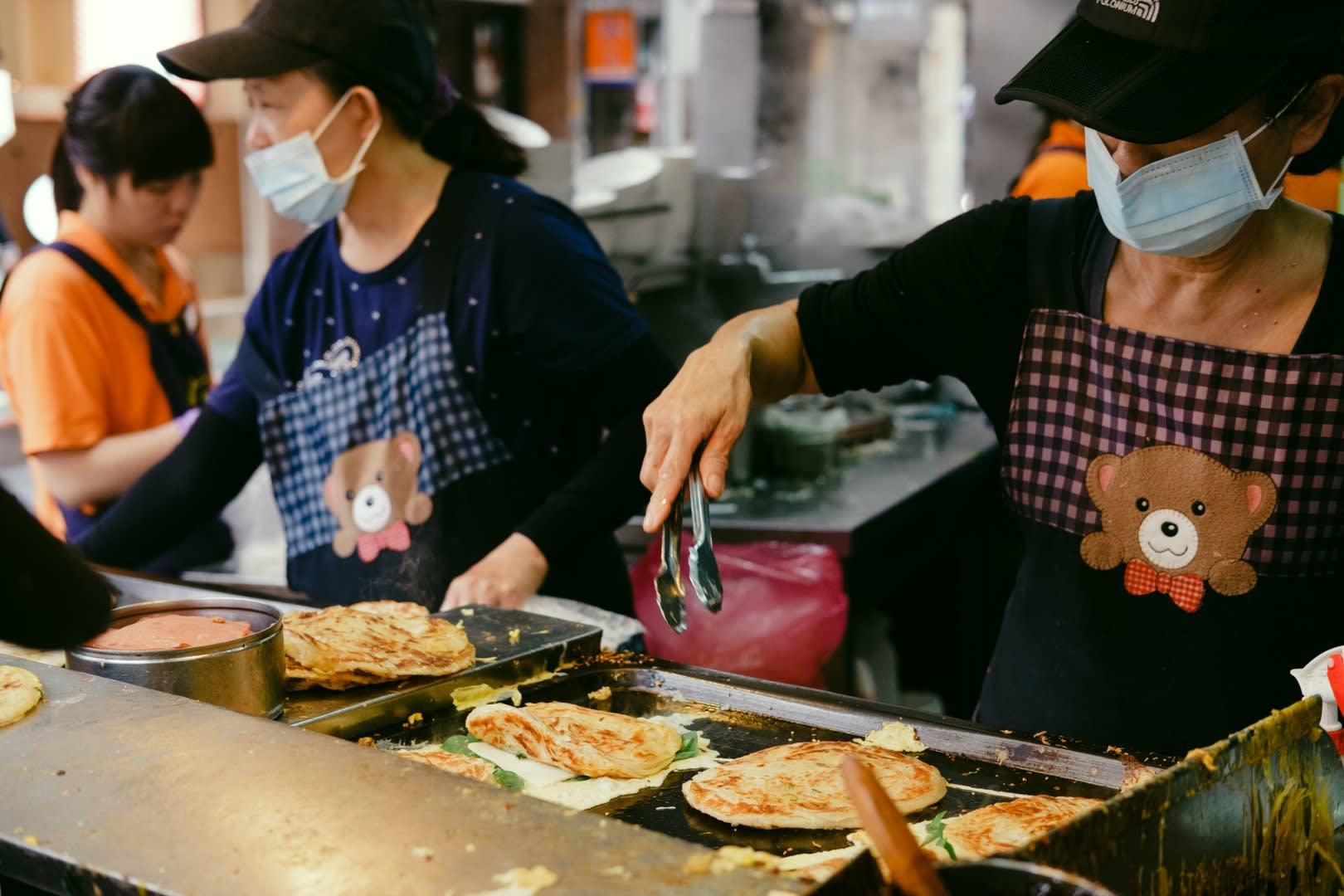 Famous Yongkang Street scallion pancakes