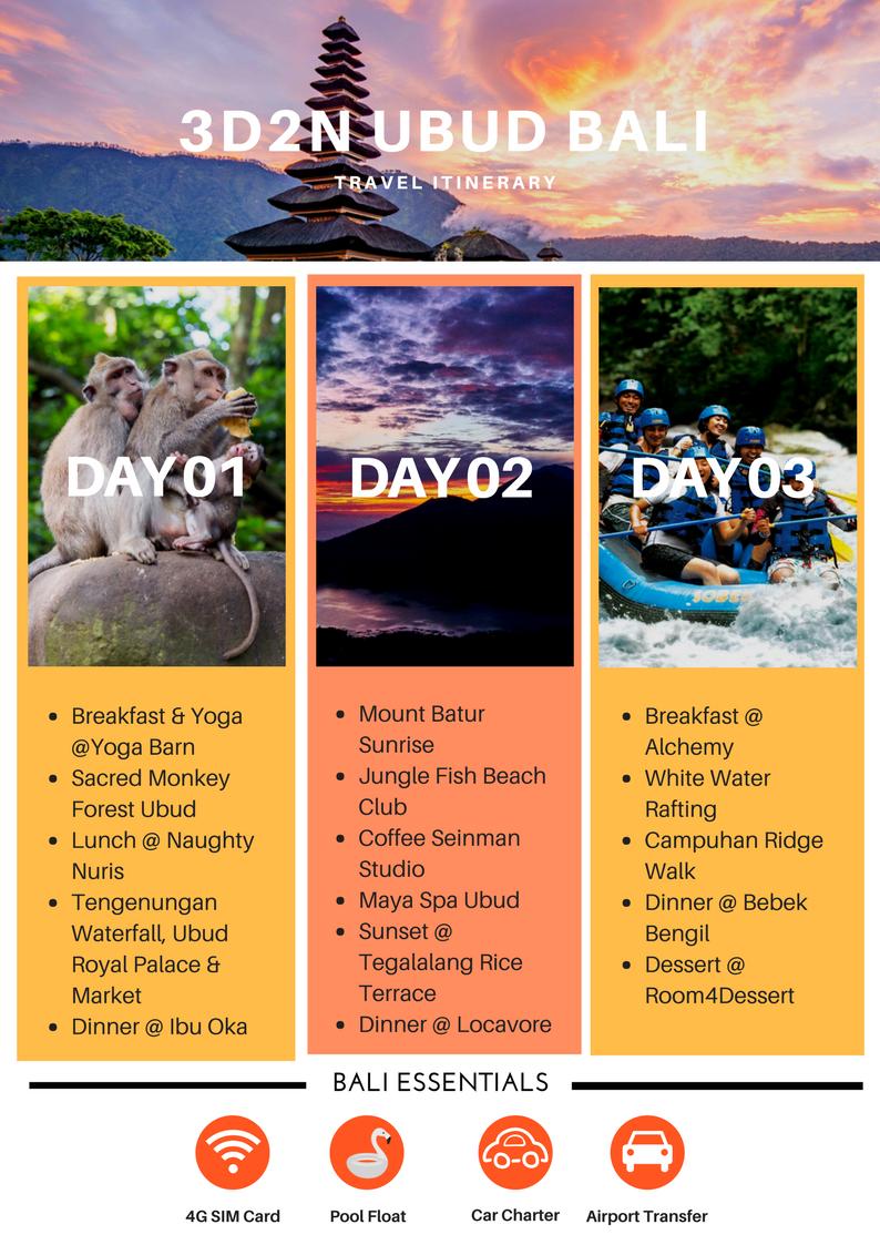 3d2n ubud itinerary