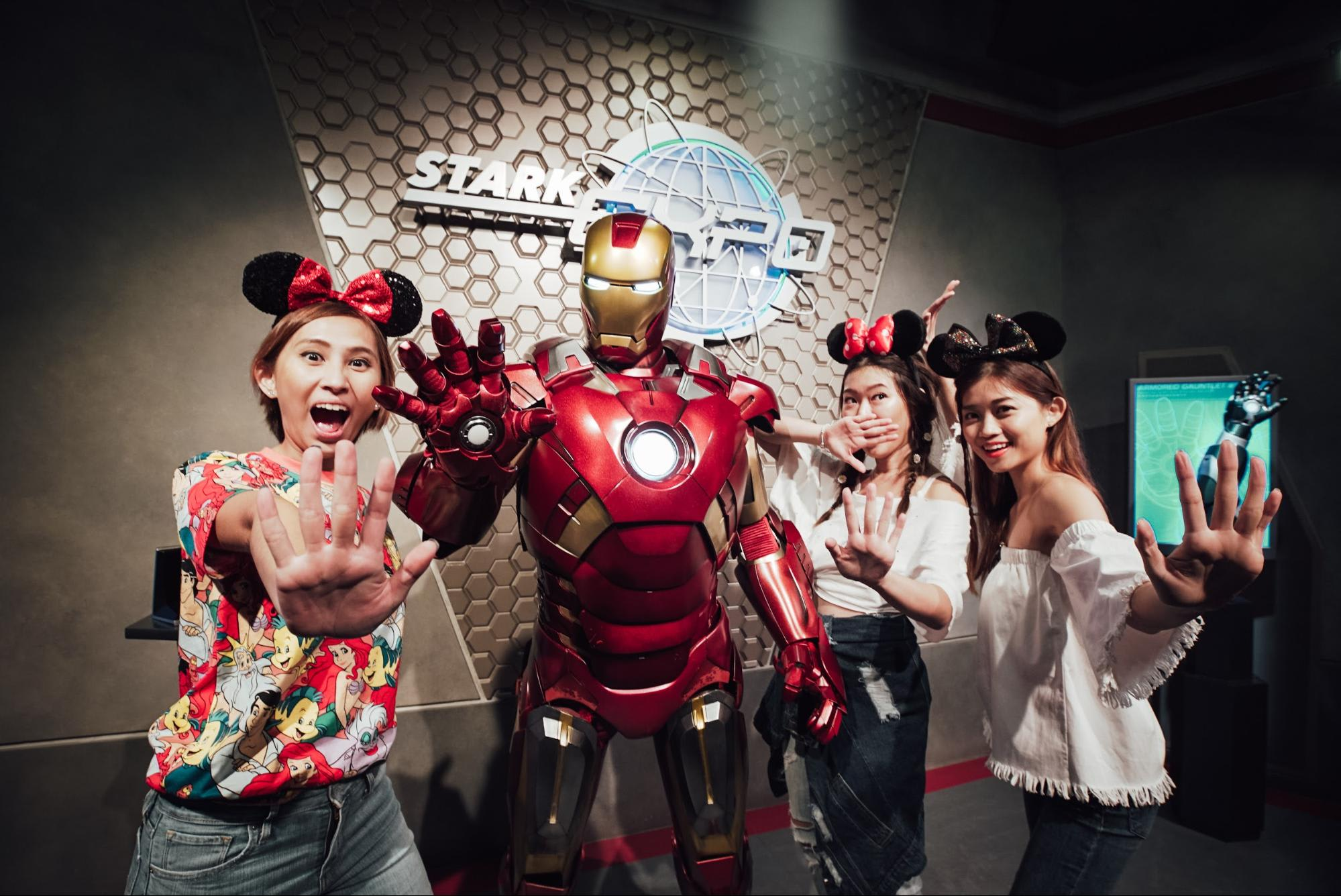 Posing with Ironman at Hong Kong Disneyland