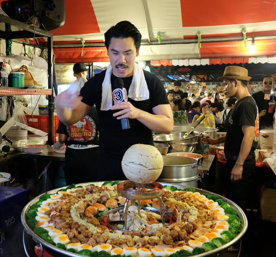 man cooking giant bami jom palung