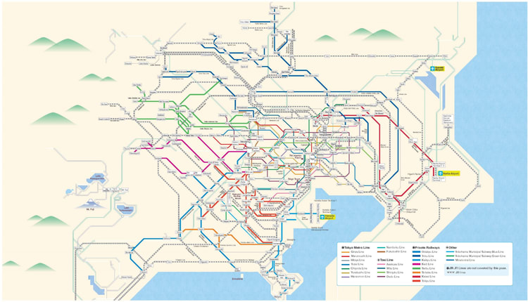 Greater Tokyo Pass Route Map