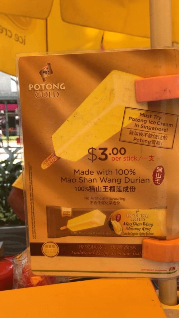 Ice-Cream Uncle Mao Shan Wang Potong Ice Cream