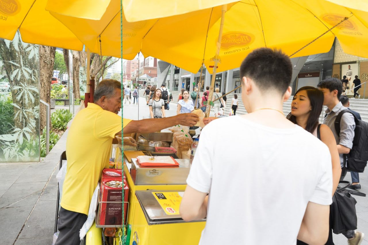 Uncle Chan at ice cream cart