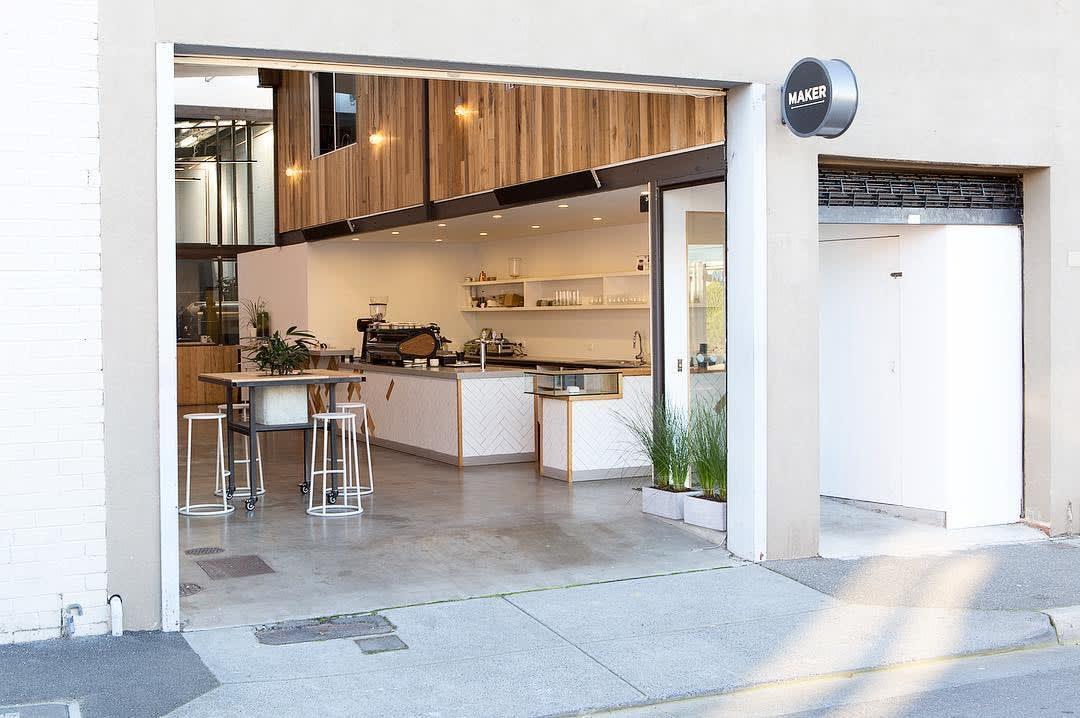 Maker Fine Coffee Exterior Melbourne Cafes