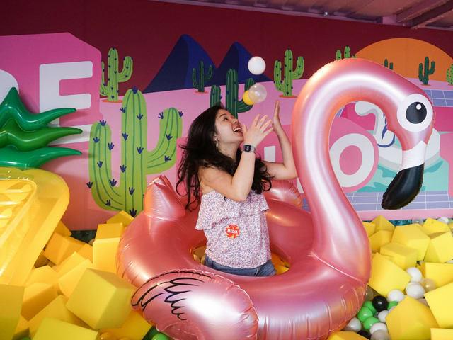 artbox singapore foam pool