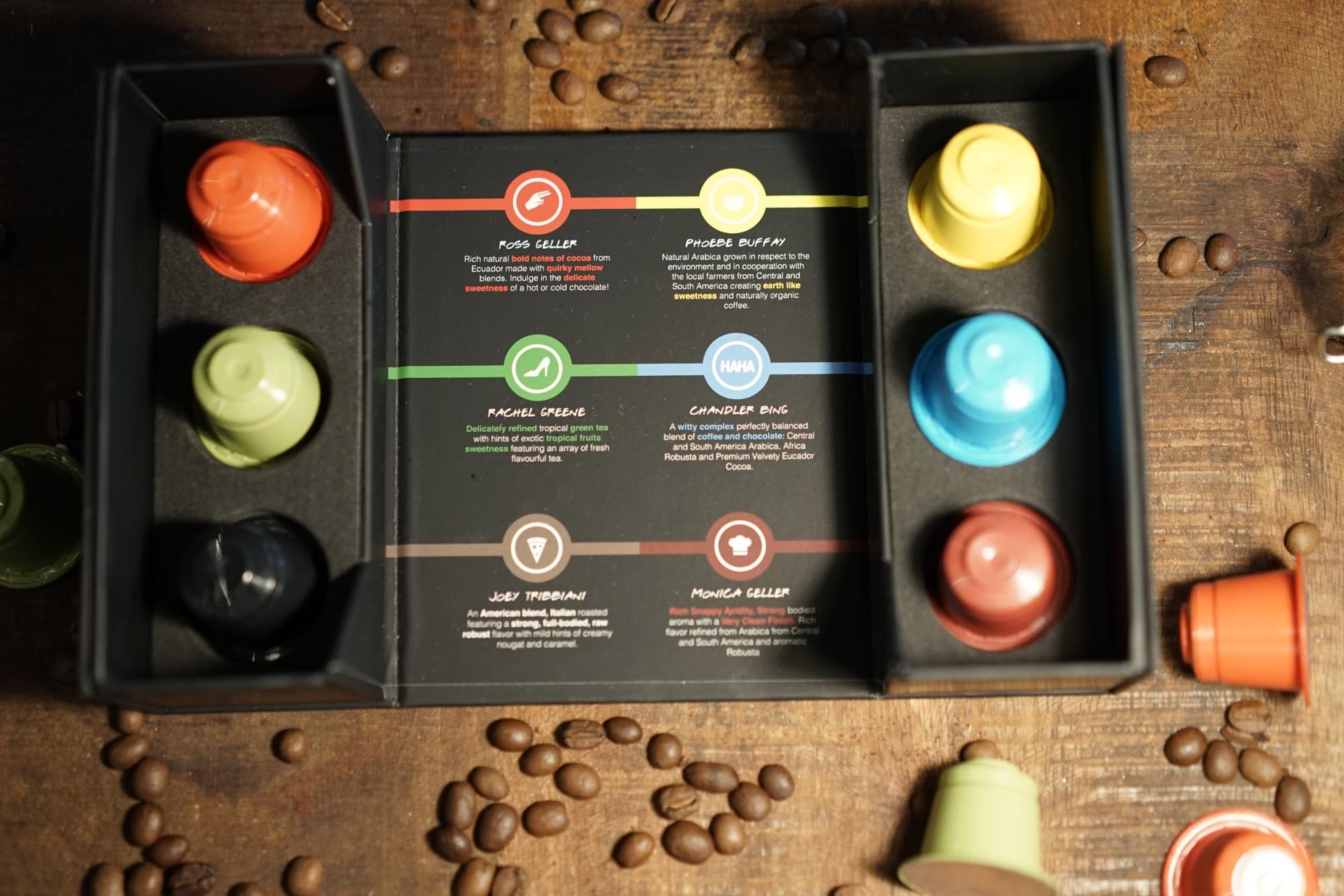 Coffee capsules at Central Perk
