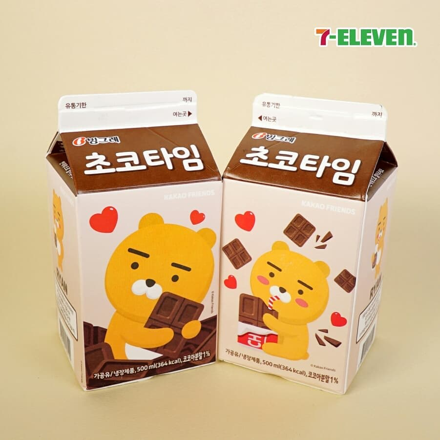 kakao friends flavored milk