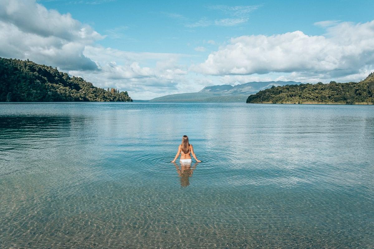 Lake Tarawera in Rotorua