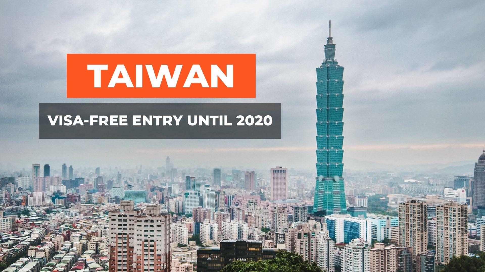 TAIWAN VISA FREE 2020